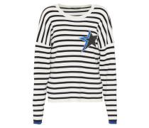 Pullover mit Sternenmotiv schwarz / weiß