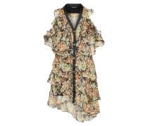 Kleid 'wanted' beige / braun / schwarz