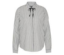 Bluse 'feminine' schwarz / weiß
