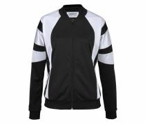 Trainingsjacke schwarz / weiß