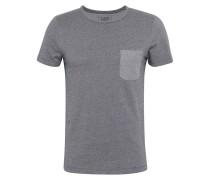 T-Shirt nachtblau / grau