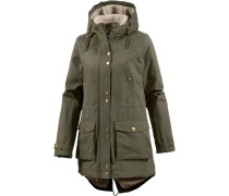 'walk ON BY' Parka Damen oliv