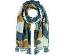 Baumwoll Modal Schal beige / mint