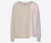 Pullover 'hope' beige / rosa