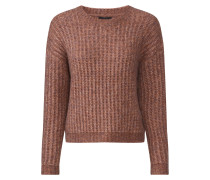 Pullover 'chunky L/S Pullover Knt' braun