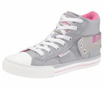 Sneaker 'Roco' hellgrau / neonpink