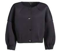 Jacke in einer lockeren O-Form navy