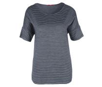 Jacquard-Shirt navy / weiß