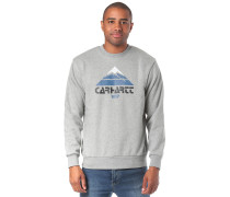 Sweatshirt 'Mountain' hellgrau