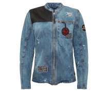 Jacke 'BEphil D' blue denim