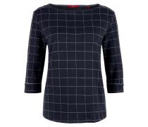 Sweatshirt dunkelblau / weiß