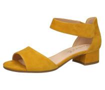 Klassische Sandaletten gelb