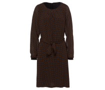 Kleid ocker / schwarz
