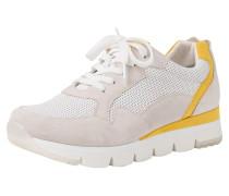 Sneaker gelb / weiß / wollweiß