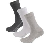 Socken anthrazit / greige / weiß