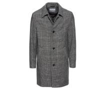 Mantel 'Check Mac Coat' grau