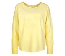 Sweatshirt 'Sweat Love' hellgelb