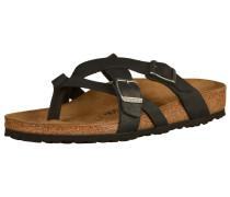 Sandalen 'Temara' braun / schwarz