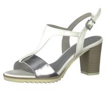 Sandaletten silber / weiß