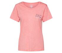 Shirt himmelblau / pinkmeliert / weiß