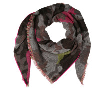 Tuch oliv / pink