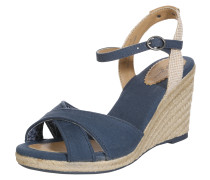 Wedge-Sandale 'Shark' beige / marine