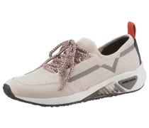 Sneaker creme / orangerot