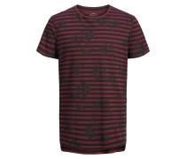 T-Shirt weinrot / schwarz