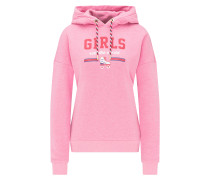 Sweater royalblau / pink / pastellrot / weiß