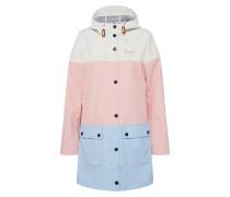 Regenmantel hellblau / rosa / weiß