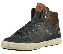 Sneaker beige / dunkelblau / braun