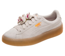 Sneaker 'Suede Platform Flower Tassel'