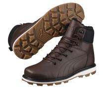 Boots 'Desierto' dunkelbraun / schwarz / weiß