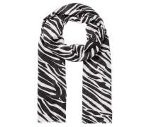 Schal mit Zebramuster schwarz / weiß