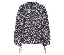 Bluse 'Rita Leopard' beige / schwarz