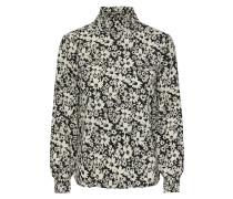 Bluse schwarz / naturweiß