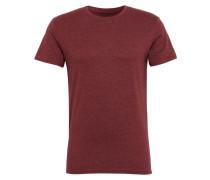 T-Shirt 'Rock Melange' bordeaux