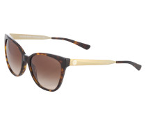 Sonnenbrille mit Metallbügel braun