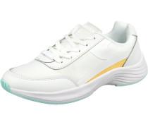 Evi Sneakers Low naturweiß / gelb / hellblau