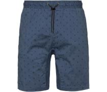 Shorts 'Altona' taubenblau / schwarz