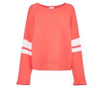 Pullover 'nonie' orange / weiß
