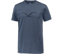 'Mowe Tonal' T-Shirt taubenblau