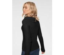 Pullover 'Off-Shoulder' schwarz
