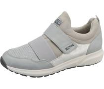 Sneakers Low camel / hellgrau / silber