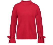 Pullover mit Schleifen-Details rot
