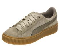 'Suede Platform Bubble' Sneaker khaki / oliv