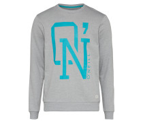Sweatshirt türkis / graumeliert