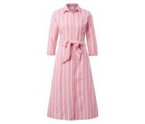Blusenkleid pink / weiß
