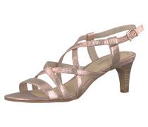Klassische Sandaletten rosegold