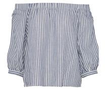 Shirt 'onlJANICE' blue denim / weiß